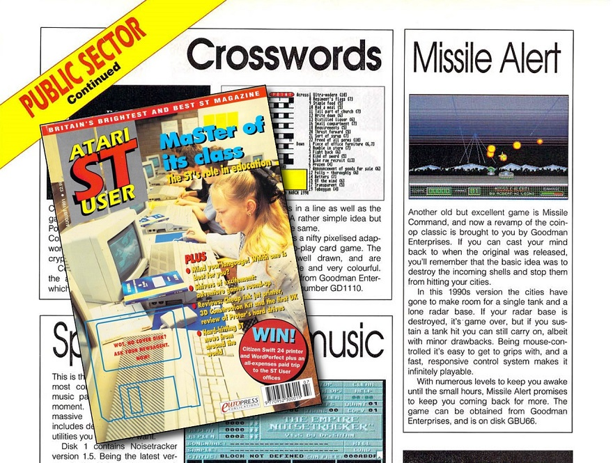 Atari ST User magazine image